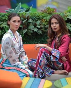 Solenn Heussaf and Mia Arcenas